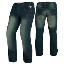 Biker Jeans Pants Trousers CE Armored Cruising Motorcycle Motorbike Blue Sonic