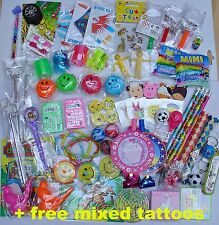 PARTY BAG TOYS FILLERS set+ free tattoos Goody Pinata birthdays PRIZES children