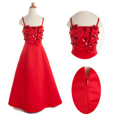 Sweetheart Straps Flower Wedding Bridesmaid Party Age 2-11 Year Evening Dress