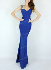 FREE SHIP! 1 Sexy Mermaid Style Evening Party Gown Bridesmaid Long Prom Dresses