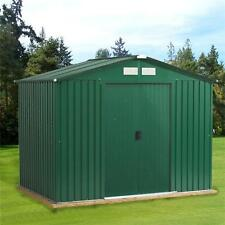 NEW METAL GARDEN SHED FOR STORAGE PENT/APEX 8X6 8X4 WITH FREE BASE