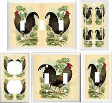 COUNTRY ROOSTER KITCHEN HOME DECOR SWITCH OR OUTLET COVER V641