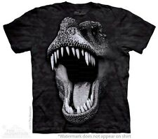 Big Face Glow Rex Kids T-Shirt from The Mountain. Glow In The Dark T-Rex NEW