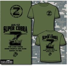 Marine Corps Air Wing AH-1Z Super Cobra Helicopter Outstanding MOTO USMC T-shirt