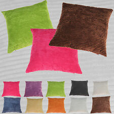 "2 or 4 Quality Chenille Stripe Cushion Covers New Super Soft 18"" x 18"""