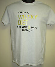 "Men's Slogan T-Shirt ""WHISKY DIET - Lost 3 Days Already"" Christmas/Birthday Gift"