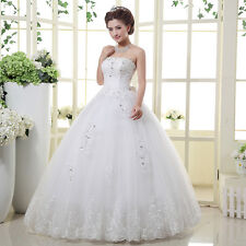 Popular princess strapless bowknot wedding dress Bride Wedding dress Custom Size