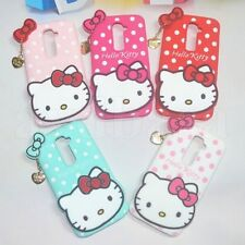 Cute 3D HelloKitty Cartoon Soft Silicone Case Cover For LG G2 D802 Mobile Phone