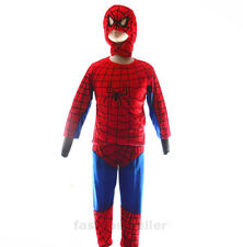 2-7 Spiderman Boys Kids 3pc Costume Set Halloween Party Dress Up Outfit Cosplay