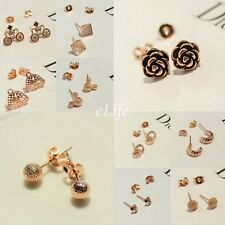 New Fashion Muti-style Small size Ear Stud lovely tiny cute Gold Plated Earrings