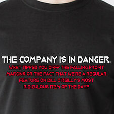 The company is in danger. What tipped you off? The falling profit Funny T-Shirt