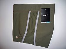 "New with tag Nike Womens 2"" army green boy cut shorts compression 519835-372 S~M"