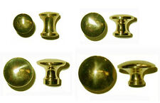 Polished Cast Brass Bookcase,  Small Box Knobs, 4 sizes, Sold in Pairs or Lot/6