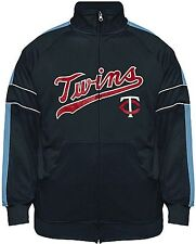 Minnesota Twins Cooperstown Majestic Field Track Jacket Big And Tall Sizes