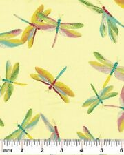 Dragonfly Shimmer Fabric 5 Color Combinations Available - Pond Insects Summer