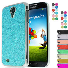 Samsung Galaxy S4 i9500 Glittery Sparkle Chrome Bling Hard Back case cover Uk