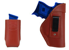NEW Barsony Burgundy Leather IWB Holster + Mag Pouch Astra Beretta Compact 9mm