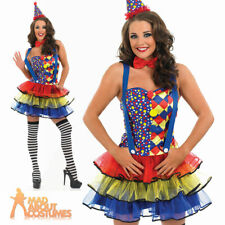 Sexy Clown Costume Adult Circus Ladies Fancy Dress Outfit New UK 8-30