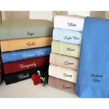 """800 Thread Count Bed Skirt 1-Piece Pure Cotton Drop Up to 23"""" Length All Color's"""