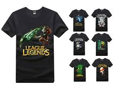 2014fashion Amumu Teemo Rivan League of Legends LOL short sleeve T-SHIRT Cosplay
