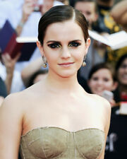EMMA WATSON BEAUTIFUL BARE SHOULDERED SLICK BACK HAIR STUNNER PHOTO OR POSTER