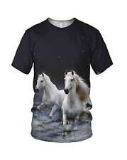 All Over 3D Print Wild Horses Fashion Men's And Ladies T Shirts