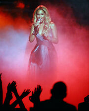 BEYONCE KNOWLES IN RED MIST BUSTY REVEALING DRESS ON STAGE PHOTO OR POSTER