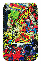 Comic Super Heroes   Mobile PHONE CASE POUCH FITS HTC 610, One M8, One Mini 2