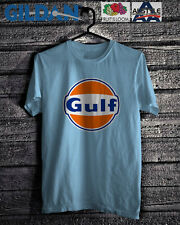 VINTAGE GULF OIL RACING LUBRICANT BLUE WHITE SHIRT S-3XL