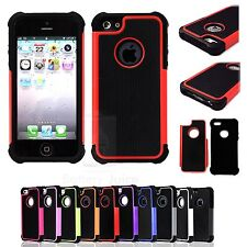 Hybrid Rugged Impact Rubber Matte Hard Dual Case Cover for Apple iPhone 5 5G 5S