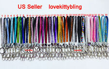 Short  Wrist Strap Crystal Rhinestone Bling Bling Lanyard & Key Holder