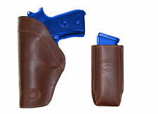 New Barsony Brown Leather IWB Holster + Mag Pouch for Taurus Full Size 9mm 40 45