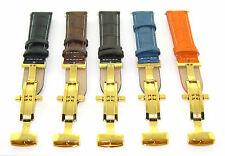 18MM-24MM LEATHER WATCH BAND STRAP FOR INVICTA 3B GOLD