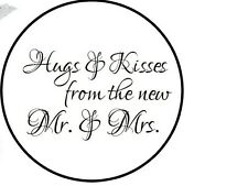 108 324 648 Hugs Kisses Mr Mrs Candy Kiss Wedding Favor Labels Stickers