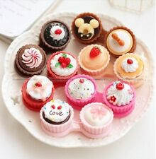 Cup Cake Cute Travel Contact Lens Case Eye Care Kit Holder Hard Box