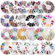 3D Acrylic Nails UV Gel Art Tips Gems Bead Shining Sequins Manicure Kits Sets