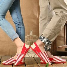 Model Couples Canvas Sneakers Eu 35-44 Striped Unisex Lovers Fashion Flat Shoes