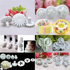 Plastic New Sugarcraft Cake Decorating Fondant Icing Plunger Cutters Tools Mold