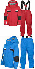 Boys TRESPASS SCRUFFY Ski Jacket Salopettes Pants Suit Set BLUE RED AGE 5/6