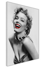 BLACK WHITE MARILYN MONROE RED LIPS CANVAS WALL ART PICTURES PHOTO PRINTS DECOR