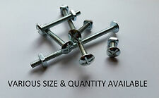 M6 ROOFING BOLTS ZINC PLATED WITH CROSS SLOTTED MUSHROOM HEAD & NUT