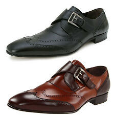Mezlan Men's Otis Wingtip Monkstrap Loafer - New In Box