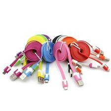 Mince Flat Micro USB Data Sync cable chargeur pr Samsung Galaxy S4 S3 Note 2 HTC