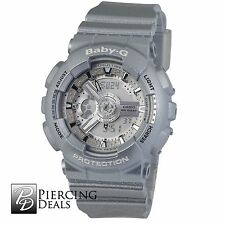 Baby G Women's Watch Silver Resin Analog & Digital BA110-8A