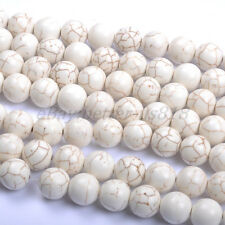White Turquoise Round Charms Loose Spacer BEADS - Choose 6MM 8MM 10MM 12MM 14MM