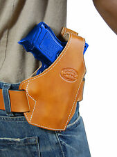 New Barsony Tan Leather Pancake Gun Holster for Springfield Compact 9mm 40 45