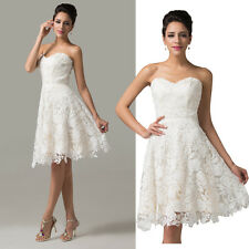 NEW CHEAP~Lace & Satin Bridesmaid Wedding Party Prom Ball Evening Formal Dresses