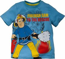 FIREMAN SAM:BLUE TO THE RESCUE T SHIRT, 2/3,3/4,4/5YR,NEW WITH TAGS