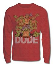 BNWT MENS BURTONS RETRO TEENAGE MUTANT NINJA TURTLES MAROON SWEATERS, rrp £28