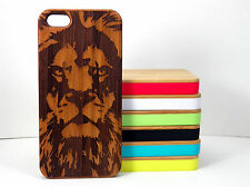 Lion Case for iPhone 5C Bamboo Wood Cover Leo Astrology African Jungle King Gift